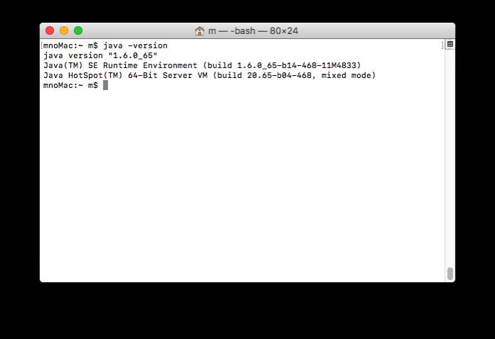 Java for OS X 2015-001のインストール後確認2