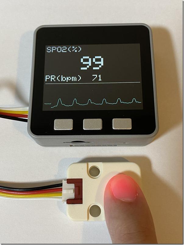 M5Stackを使って血中酸素飽和度と心拍数を可視化するプログラム